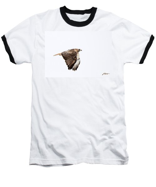 Red Tail In Flight Baseball T-Shirt