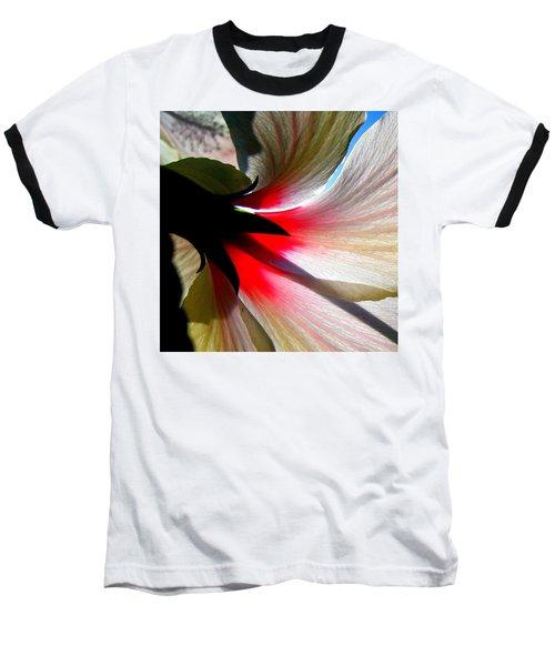 Red White N Black Baseball T-Shirt by John King