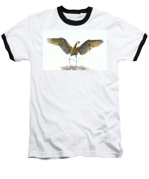 Reddish Egret 2 Baseball T-Shirt by William Horden