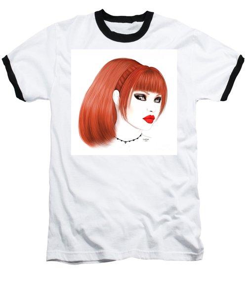 Redhead Cassia Baseball T-Shirt by Renate Janssen