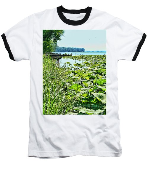 Reelfoot Lake Lilly Pads Baseball T-Shirt