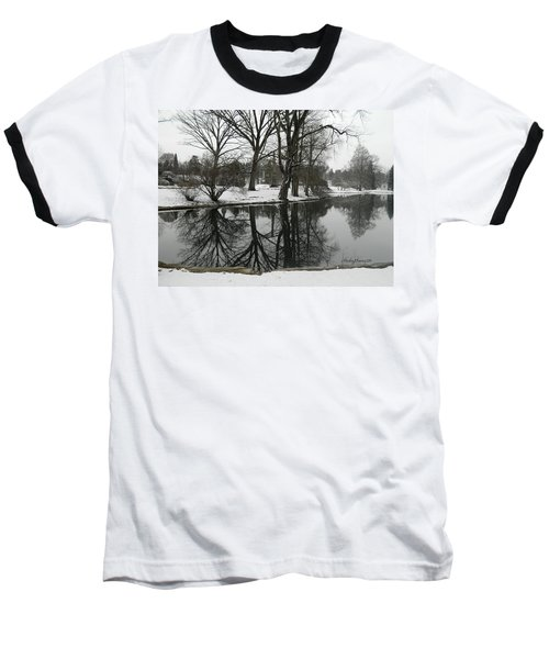 Baseball T-Shirt featuring the photograph Reflection Pond Spring Grove Cemetery by Kathy Barney