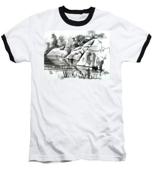 Reflections At Elephant Rocks State Park No I102 Baseball T-Shirt