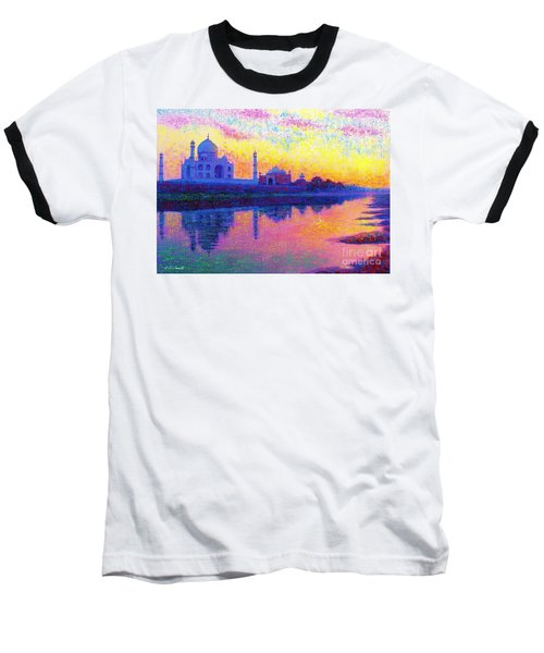 Taj Mahal, Reflections Of India Baseball T-Shirt
