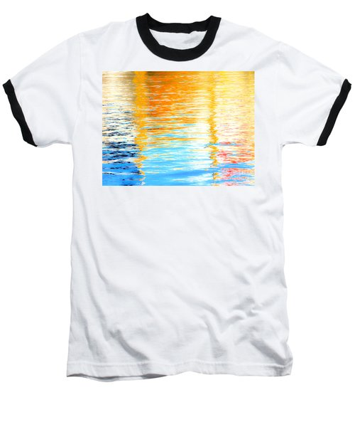Reflections Of The Setting Sun Baseball T-Shirt by Roselynne Broussard