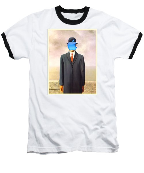 Rene Magritte Son Of Man Apple Computer Logo Baseball T-Shirt