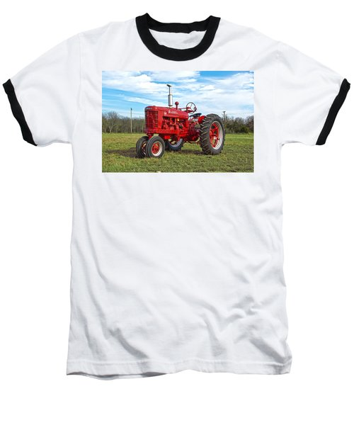 Restored Farmall Tractor Baseball T-Shirt