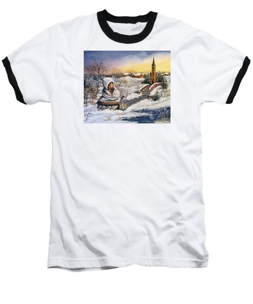 Baseball T-Shirt featuring the painting Return by Vesna Martinjak
