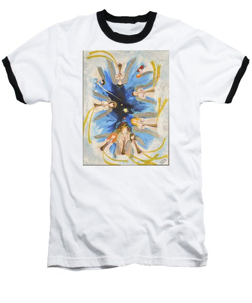 Baseball T-Shirt featuring the painting Revelation 8-11 by Cassie Sears