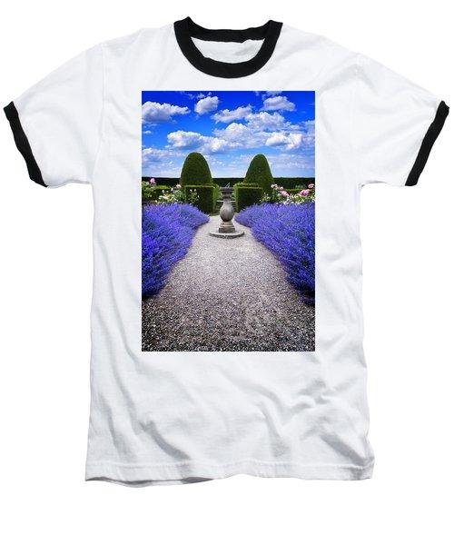 Rhapsody In Blue Baseball T-Shirt by Meirion Matthias