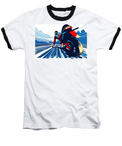 Riding On The Edge Baseball T-Shirt