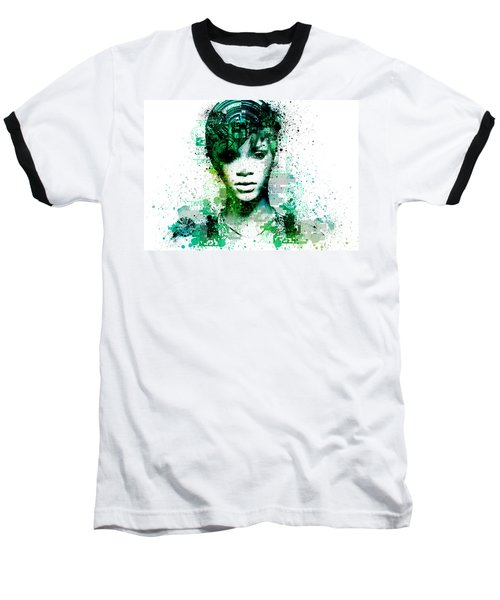 Rihanna 5 Baseball T-Shirt by Bekim Art