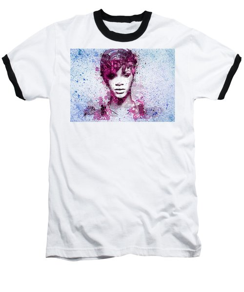 Rihanna 8 Baseball T-Shirt by Bekim Art