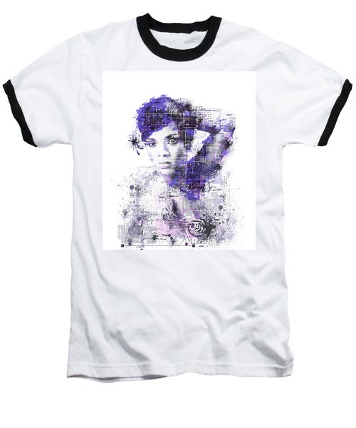 Rihanna Baseball T-Shirt by Bekim Art