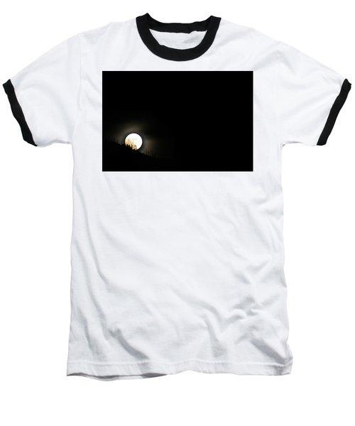 Rising Moon Baseball T-Shirt by Joel Loftus