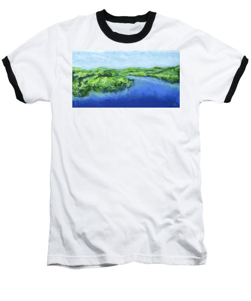 Baseball T-Shirt featuring the painting River Bend by Stephen Anderson