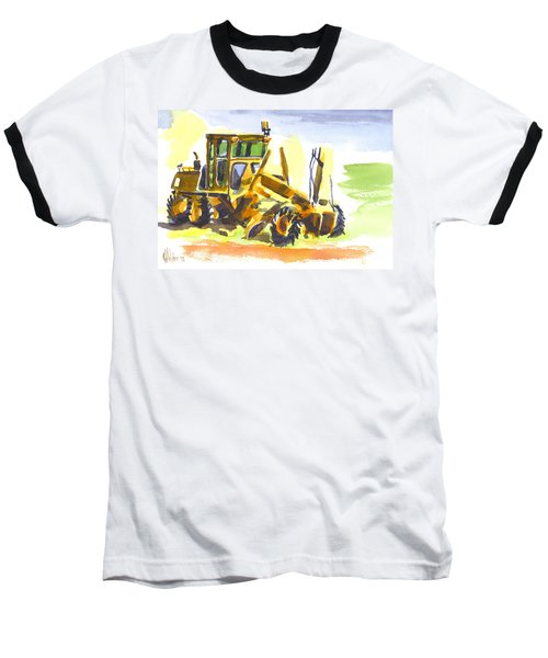 Roadmaster Tractor In Watercolor Baseball T-Shirt