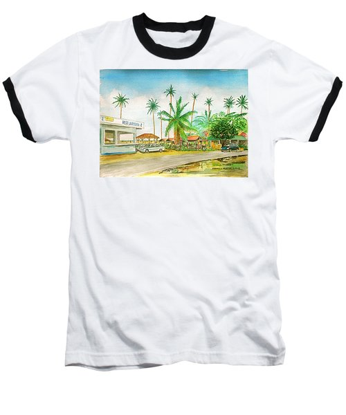 Roadside Food Stands Puerto Rico Baseball T-Shirt by Frank Hunter