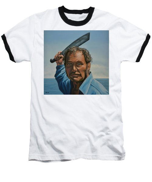 Robert Shaw In Jaws Baseball T-Shirt