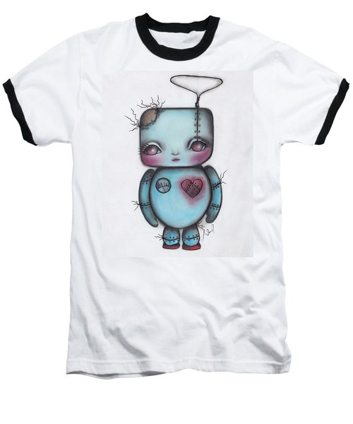 Robot Baseball T-Shirt by Abril Andrade Griffith