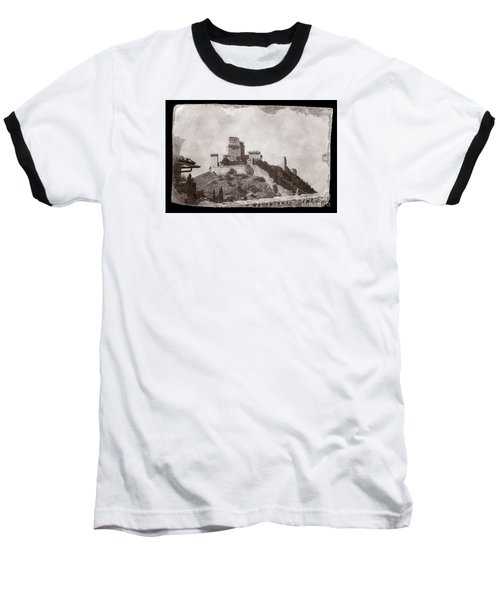 Rocca Maggiore Castle Baseball T-Shirt