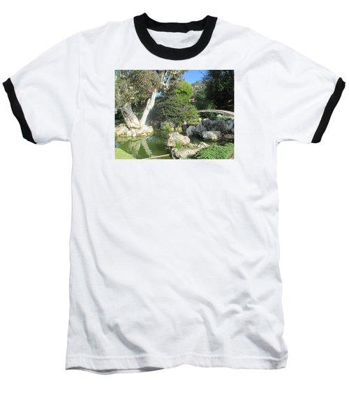 Stone Bridge Pond Baseball T-Shirt by Vivien Rhyan