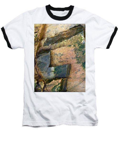 Rock On Baseball T-Shirt by Liz  Alderdice