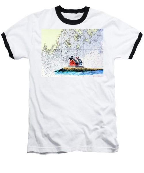 Rockland Breakwater Light Baseball T-Shirt by Mike Robles