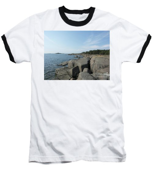 Rocky Seashore 2 In Hamina  Baseball T-Shirt