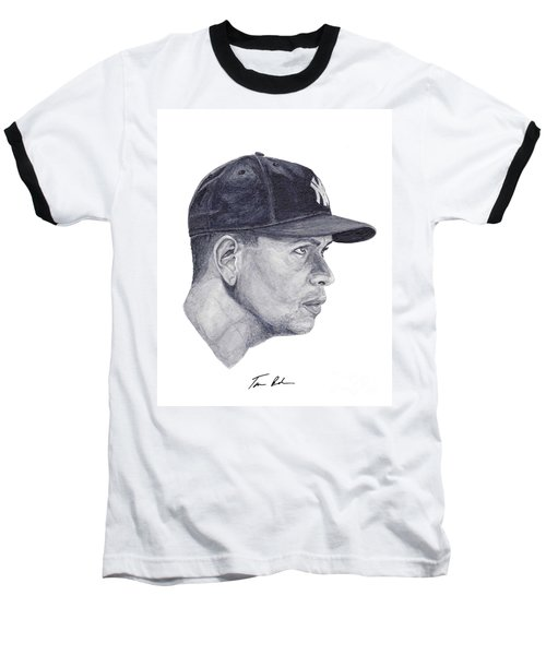 Baseball T-Shirt featuring the painting Rodriguez by Tamir Barkan