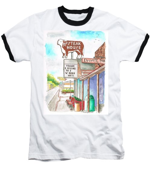 Rod's Steak House In Route 66 - Williams - Arizona Baseball T-Shirt