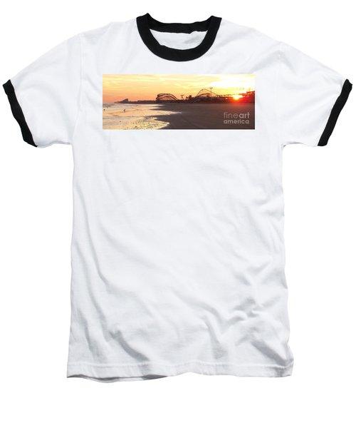 Roller Coaster Sunset Baseball T-Shirt