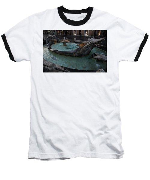 Rome's Fabulous Fountains - Fontana Della Barcaccia At The Spanish Steps  Baseball T-Shirt