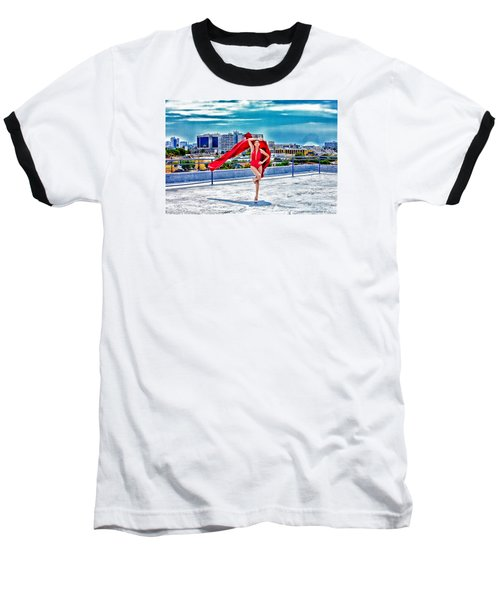 Roof Top Baseball T-Shirt by Gregory Worsham
