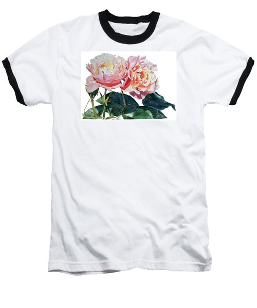 Pink And Yellow Rose Anne Baseball T-Shirt