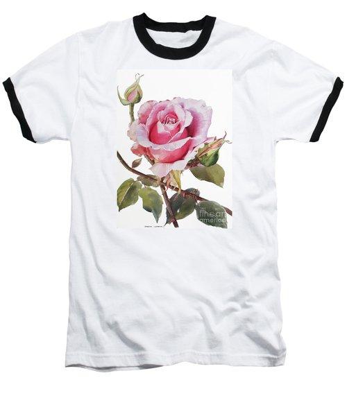 Watercolor Of Pink Rose Grace Baseball T-Shirt