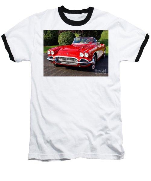 Route 66 - 1961 Corvette Baseball T-Shirt