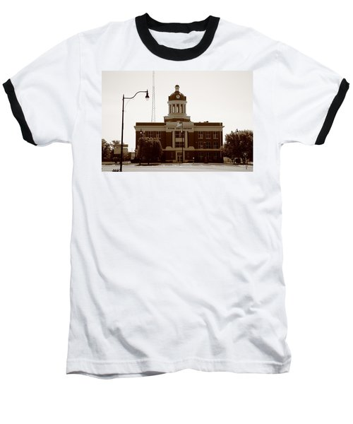 Route 66 - Beckham County Courthouse Baseball T-Shirt
