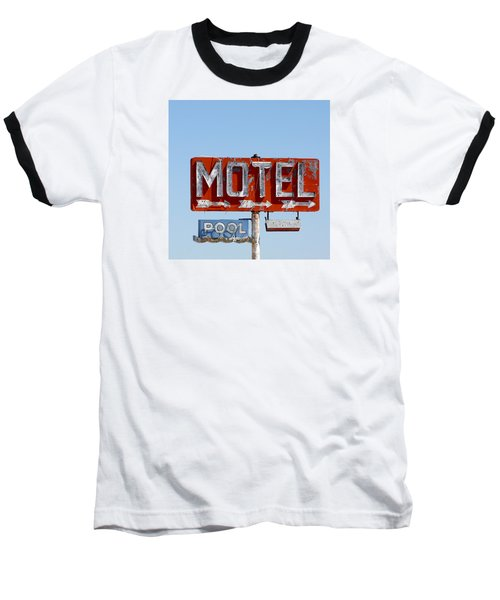 Route 66 Motel Sign Baseball T-Shirt