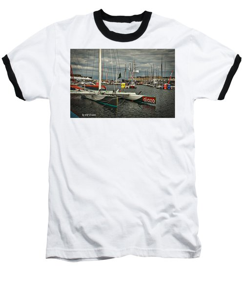 Baseball T-Shirt featuring the photograph Route Du Rhum Ready by Elf Evans