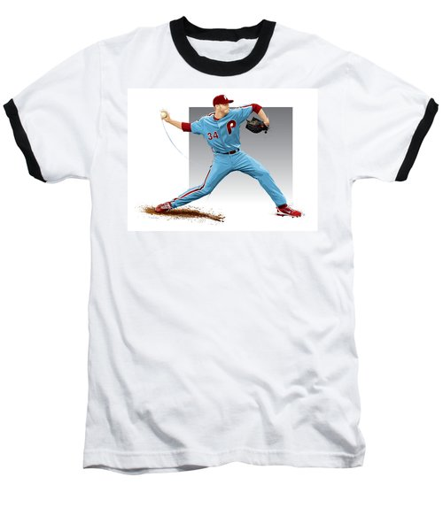 Roy Halladay Baseball T-Shirt by Scott Weigner