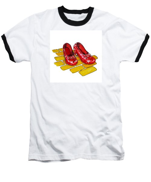 Ruby Slippers The Wizard Of Oz  Baseball T-Shirt