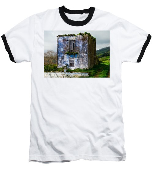 Ruins Of House Painted Blue Baseball T-Shirt