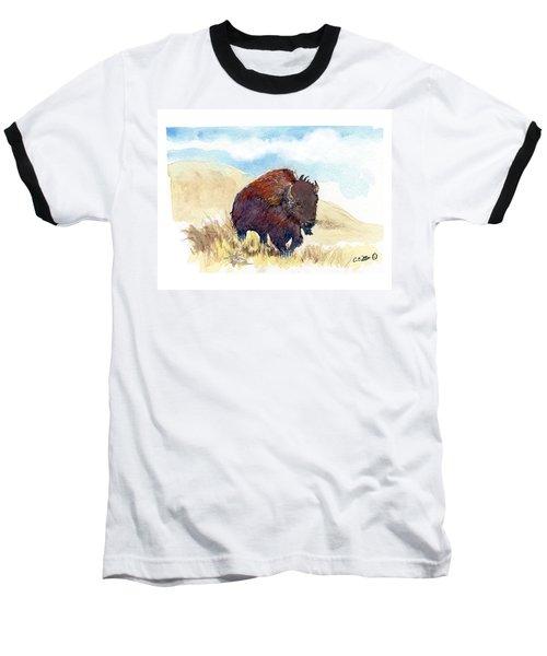 Running Buffalo Baseball T-Shirt by C Sitton