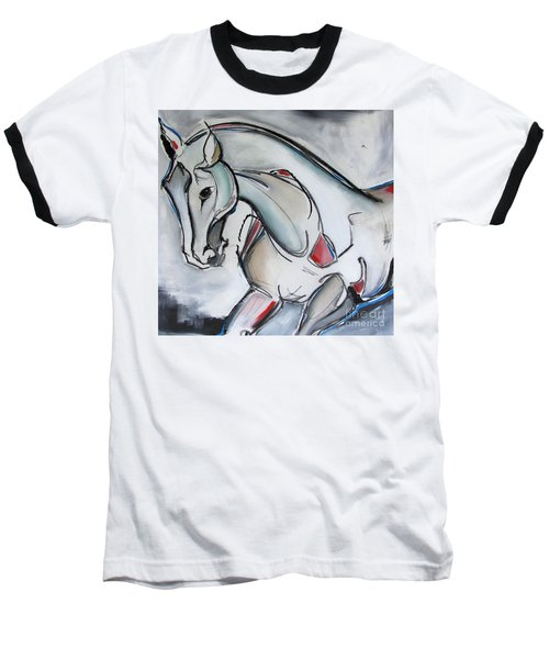 Baseball T-Shirt featuring the painting Running Wild by Nicole Gaitan