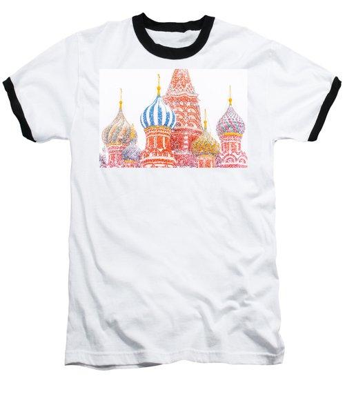 Russian Winter Baseball T-Shirt by Alexander Senin
