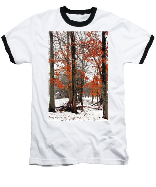 Rustic Winter Baseball T-Shirt
