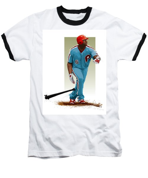 Ryan Howard Baseball T-Shirt by Scott Weigner