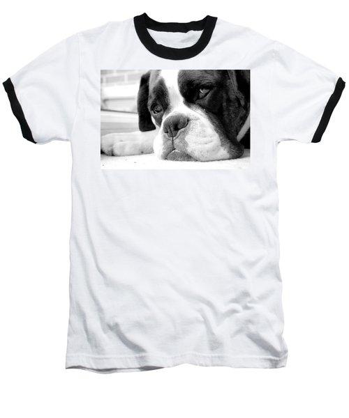 Sad Boxer Dog Baseball T-Shirt