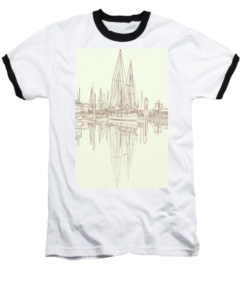 Baseball T-Shirt featuring the photograph Sailboat On Liberty Bay by Greg Reed